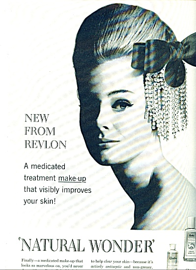 1963 Revlon Natural Wonder Ad Monique Chevlal