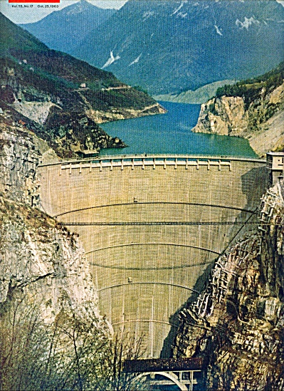 The great Dam at Longarone Italy  falls 1963 (Image1)