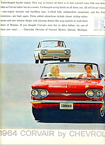 Chevrolet Corvair 1964 ad (Image1)