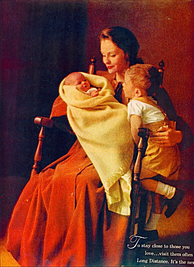 Bell Telephone system ad 1963 MOM AND KIDS (Image1)
