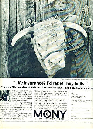 MONY - Mutual of New York Life insurance 1963 (Image1)