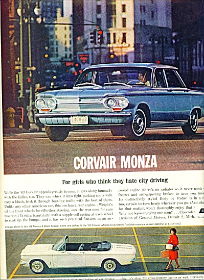 Chevrolet Corvair Monza ad (Image1)