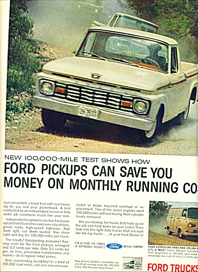 1963 Ford PICKUP Trucks AD (Image1)