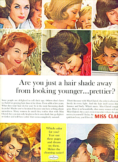 1963 Miss Clairol AD EIGHT Beautiful MODELS (Image1)