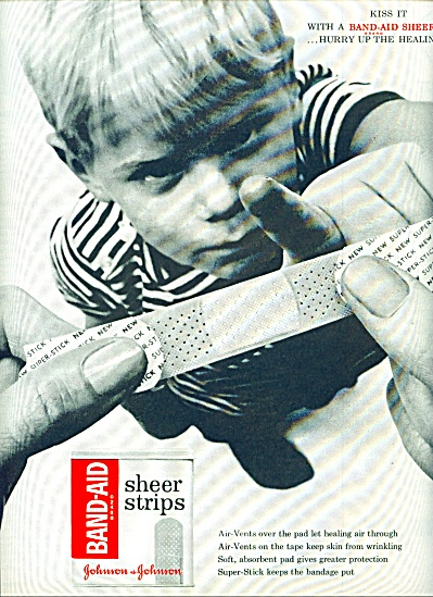 Band Aid sheer strips - Johnson & Johnson ad (Image1)