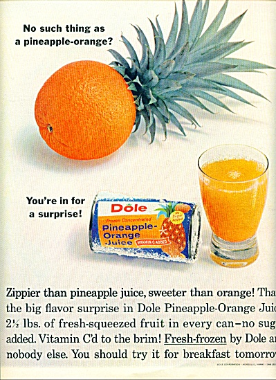 Dole pineapple orange juice ad 1963 (Image1)