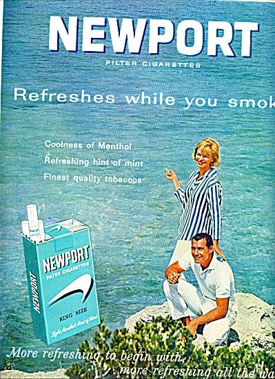 Newport cigarettes ad 1963 (Image1)
