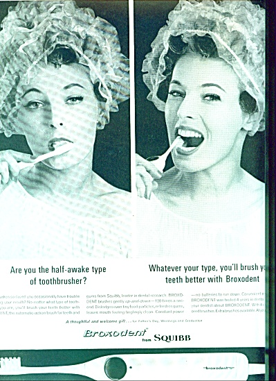 1963 Broxodent from Squibb toothbrush ad (Image1)