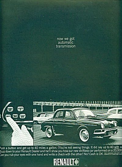 Renault automobile ad 1963 (Image1)