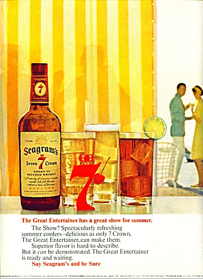 Seagrams Seven Crown Blended Whiskey Ad