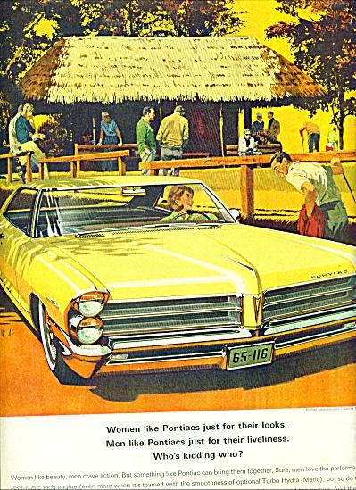 1965 Pontiac  CAR AD VAN KAUFMAN ART (Image1)