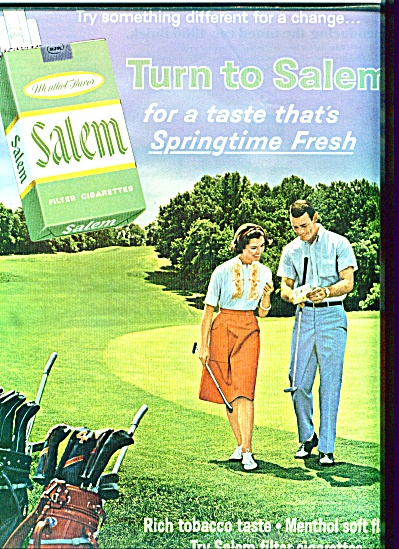 Salem Cigarettes Ad 1966