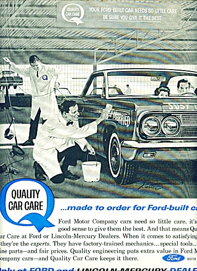 1963 Ford - Mercury Dealer AD J. FALTER ART (Image1)