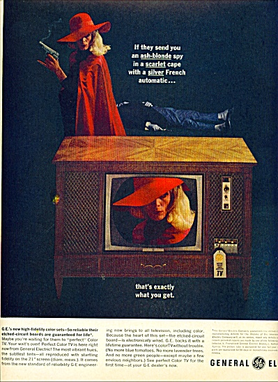 General Electric television ad 1963 ASH BLONDE SPY (Image1)