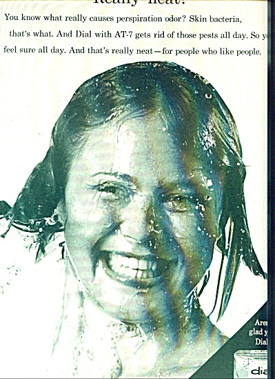 1963 DIAL SOAP AD Girl in Shower (Image1)