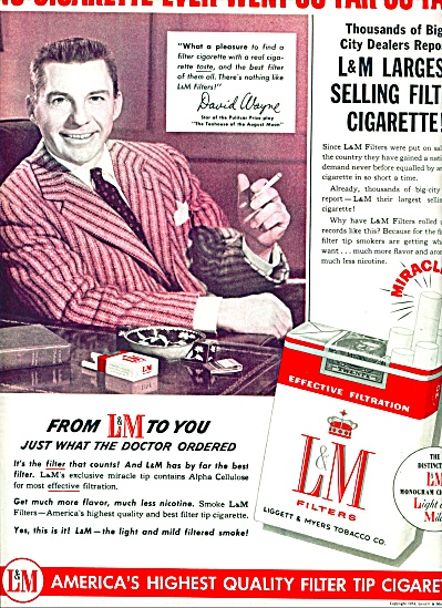 L & M. Filter cigarettes - DAVID WAYNE  - ad (Image1)