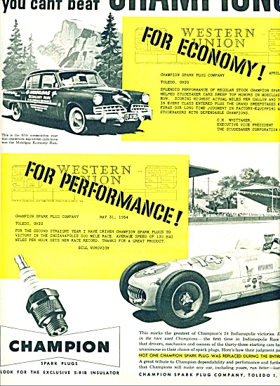 1954 Champion AD BILL VUKOVICH INDY 500 (Image1)