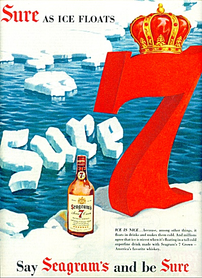 Seagram's 7 crown blended whiskey ad 1954 (Image1)