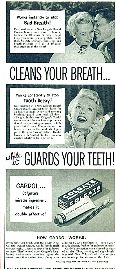 Colgate dental cream ad 1954 (Image1)