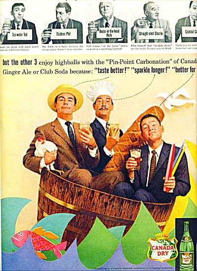 Canada Dry AD THREE MEN IN A TUB (Image1)