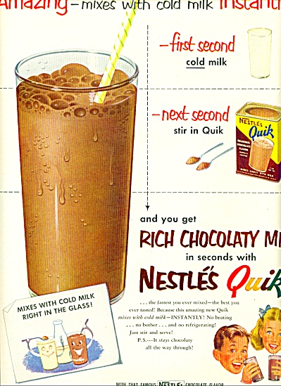 Nestle's rich chocolaty quick ad (Image1)