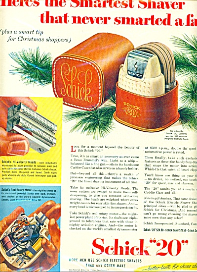 "Schick ""20"" Electric Shaver Ad 1951"