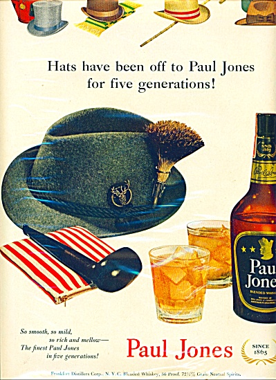 Paul Jones blended whiskey ad 1951 (Image1)