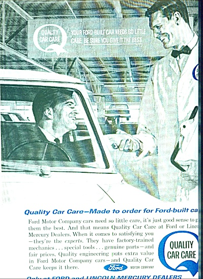 1963 Ford DEALER Service Quality Care AD (Image1)