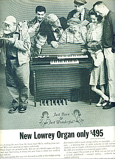 The Lowrey Organ Ad 1963 Family Generations Surround