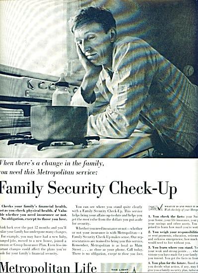 1963 Metropolitan LIFE INSURANCE AD Man BABY (Image1)