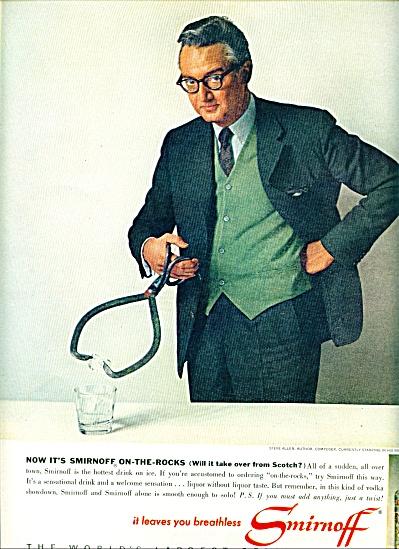 1963 Smirnoff Vodka  STEVE ALLEN AD (Image1)