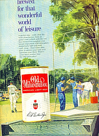 1963 Old Milwaukee Beer AD R.A. Williams JR (Image1)