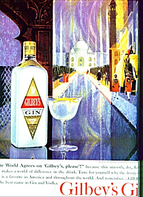 Gilbey's Gin Ad 1963
