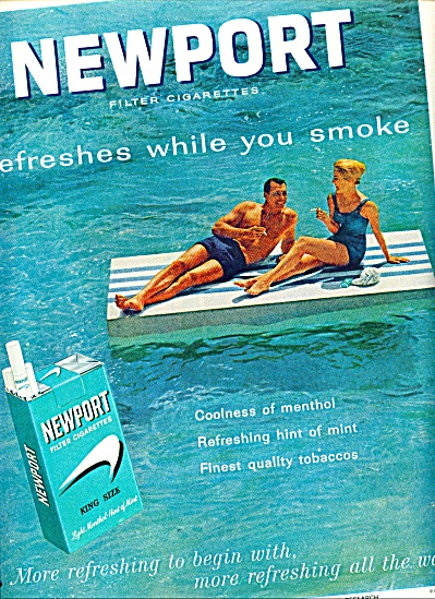 Newport filter cigarettes ad 1963 (Image1)