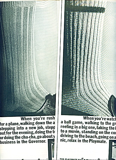 Esquire socks (Playmate & Governor) ad 1963 (Image1)