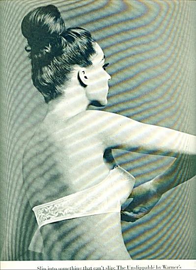 1963 WARNER's UNSLIPPABLE BRA AD (Image1)