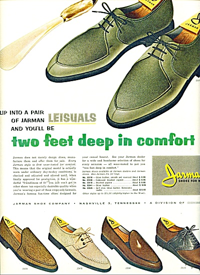 1963 Jarman Men's SHOE AD Leisuals VINTAGE (Image1)