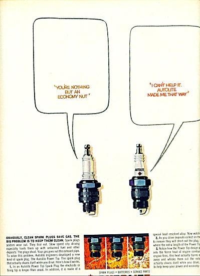 Autolite spark plugs, batteries ad 1963 (Image1)