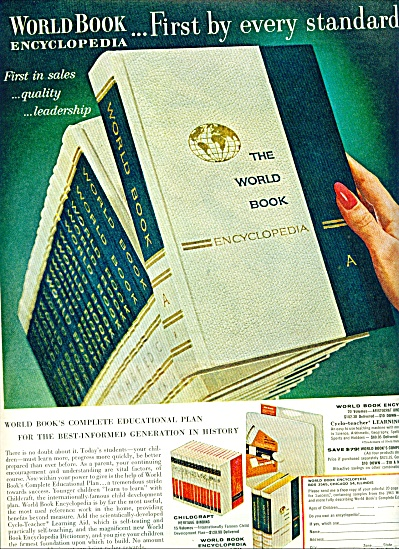 World Book Encyclopedia Ad 1963