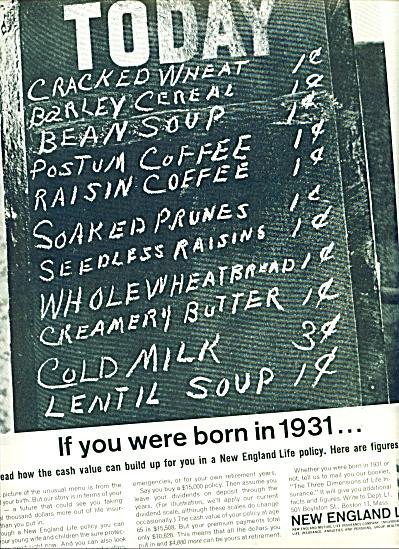 New England Life Insurance company ad 1963 (Image1)