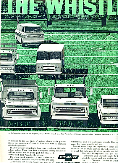 1964 Chevrolet Chevy Truck Ad 2pg 11 Models
