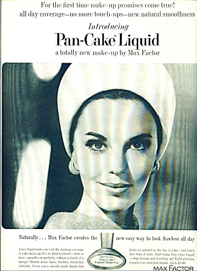 1963 Max Factor Pan Cake Makeup AD (Image1)