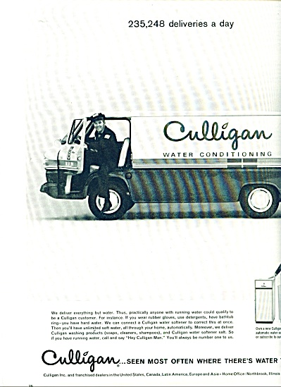Culligan water conditioning ad 1963 (Image1)