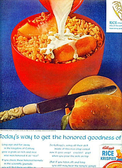 Kellogg's Rice Krispies Ad 1963