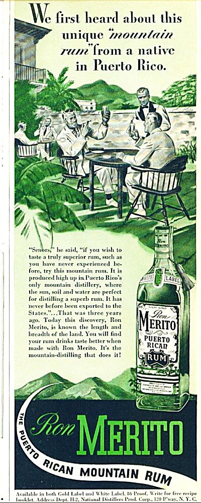 Ron Merito puerto Rican mountain rum ad (Image1)