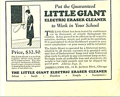 The Little Giant Electric Eraser Cleaner Ad