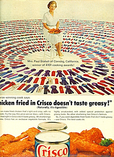 Crisco Shortening Ad 1964