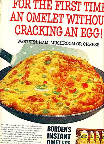 Borden's Instant Omelets Ad 1964