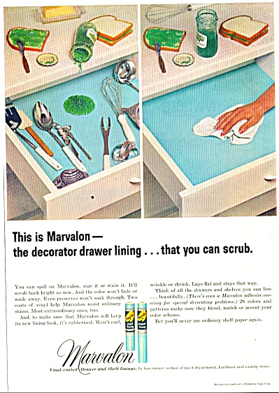 Marvalon drawer and shelf linings ad 1964 (Image1)