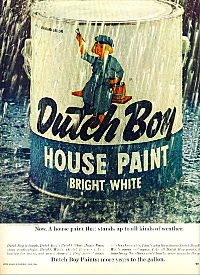Dutch Boy house paint ad 1964 (Image1)